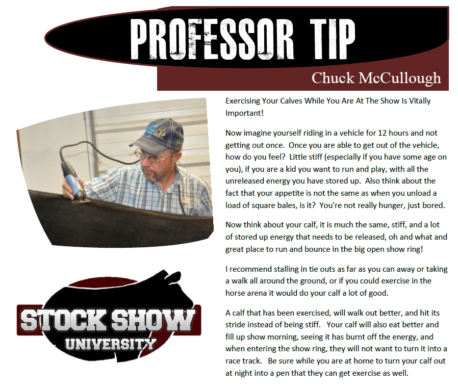 Chuck McCullough Professor tip