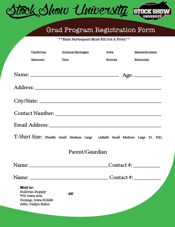 Grad Program registraion form