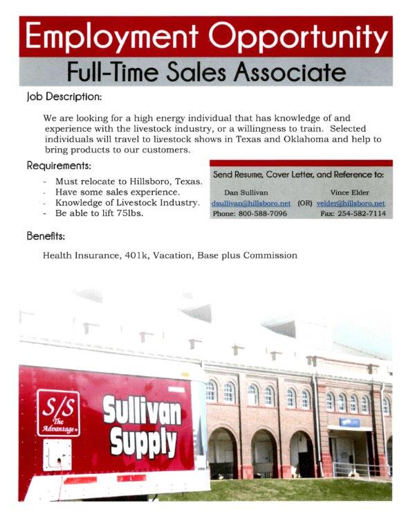 Employment Opportunity- Full Time Sales Associate