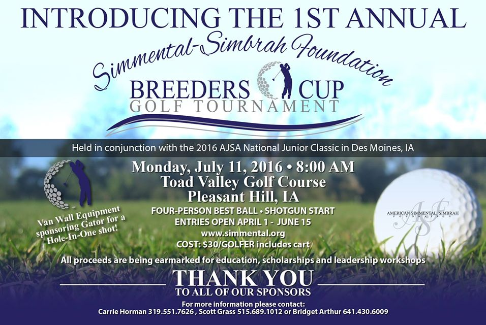 Simmental Golf Tourney
